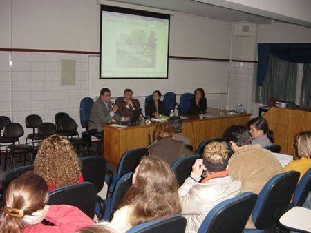 Palestrando para alunos do La-Salle, em Canoas