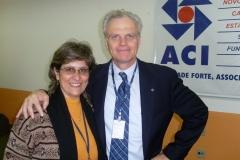 Ana e o fundador da AZUL, David Neeleman
