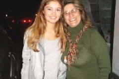 Ana com a atriz da Globo, Sophie Charlotte