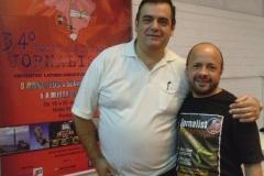 De Zotti e o colega jornalista José Nunes, no Seminário dos Jornalistass
