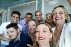 De Zotti e colegas do Programa Alta Tensão, na Rádio ABC 900