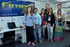 Equipe da Imprensa na Fimec 2013