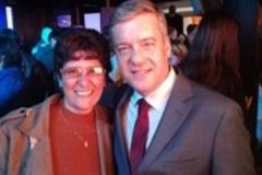 No Troféu Guri RBS, com o colega jornalista Roberto Kovalick