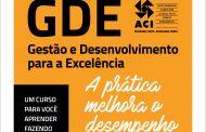Primeiro lote para o curso GDE 2019 na ACI vai até 1º de março