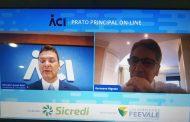 Ex-governador Germano Rigotto abriu o primeiro Prato Principal on-line da ACI