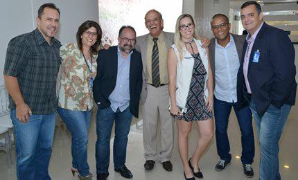 Com colegas da Imprensa na homenagem da ACI 2016