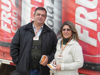 De Zotti e Ana na Fruki, em Lajeado