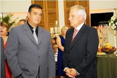 De Zotti e o presidente da Federasul, José Paulo Cairoli