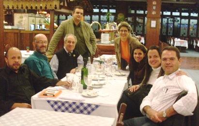 Com colegas da Imprensa e o jornalista da Globo News, Sidney Rezende