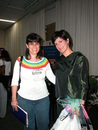 Ana com a colega jornalista Mônica Waldvogel