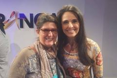 Na francal 2017, com a colega jornalista Carla Vilhena