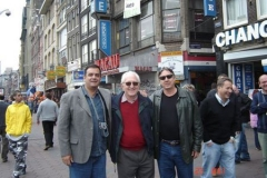 Em Amsterdan, na Holanda, com os colegas Affonso Ritter e Luiz Carlos Santetti (in memoriam)Em Amsterdan, na Holanda