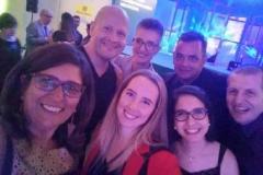 Com colegas da Imprensa, no Prêmio Primus Interpares Assintecal 2017