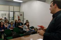 Palestrando para os alunos da Comunicação Social, na Unisinos, set 2009