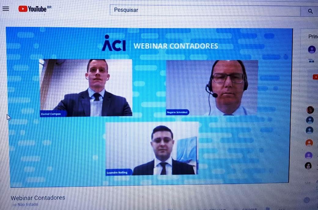 Webinar Contadores reuniu três vice-presidentes da ACI